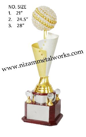 Gold & Silver Crystal Trophy