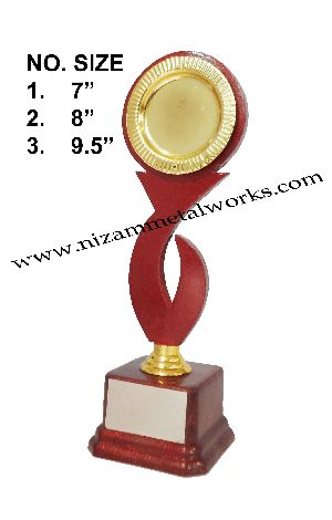 Wooden Trophy With Plastic Base