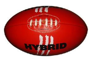 Red Genuine Leather Aussie Rules Foot Ball
