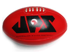 Red Genuine Leather Aussie Rules Football 3720