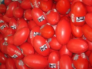 Red PVC Material Aussie Rules Foot Ball