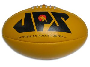 Yellow Genuine Leather Aussie Rules Football
