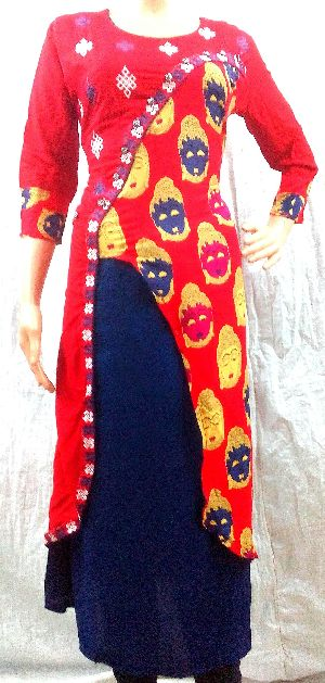 Tailor Made Rayon Designer KURTIS