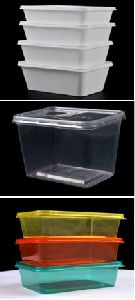 PLASTIC Rectangular Food Containers