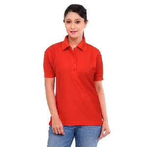 Women Office Polo T Shirt