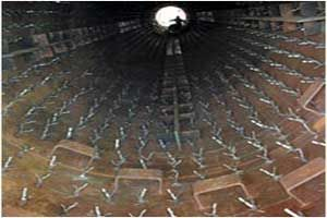 Refractory anchors in furnace