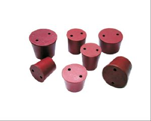 CORK STOPPER RUBBER TWO HOLE