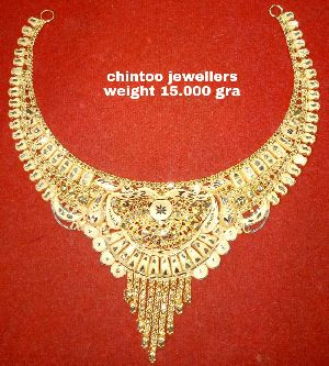 Gold Necklace Set 07