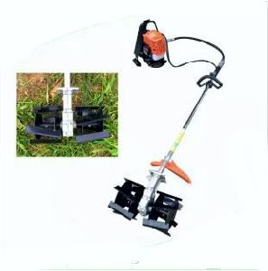 Brush Cutter with Weeder Attachment