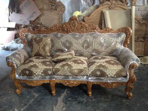 Wooden Sofa Set 02