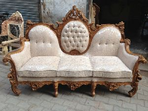 Wooden Sofa Set 04