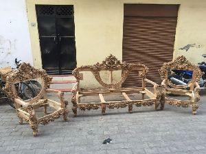 Wooden Sofa Set 01