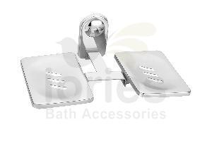Stainless Steel Deluxe Double Soap Dish
