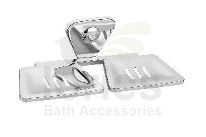 Stainless Steel Retro Double Soap Dish
