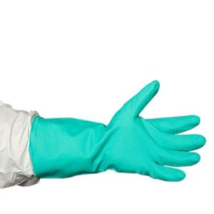 Nitrile Industrial Flock Lined Hand Gloves