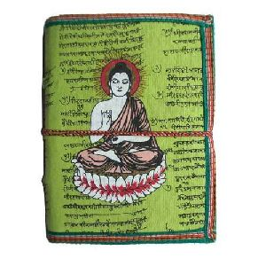 Buddha Print Leather Diary