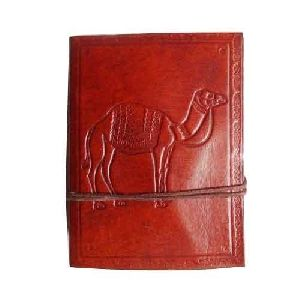 Camel Emboss Leather Diary