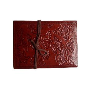 Floral Leather Diary