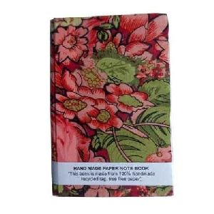 Floral Print Handmade Notebook