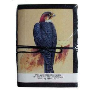 Hardcover Bird Print Handmade Notebook
