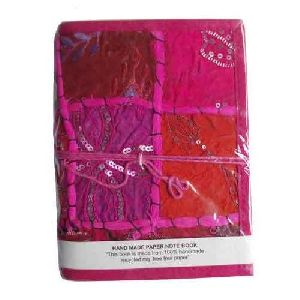 Pink Patchwork Handmade Notebook
