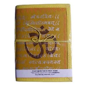 Sanskrit Carved Handmade Notebook