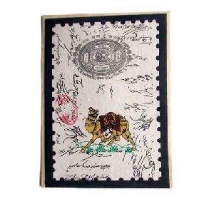 Stamp Design Handmade Notebook