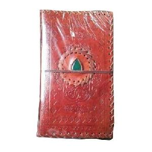 Stone Stitch Emboss Leather Diary