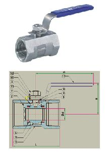 1 PC Ball Valve - 1000 WOG