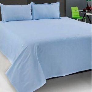 Blue Color Plain Bed Sheet