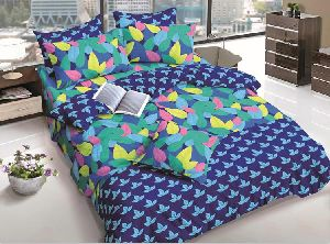 Blue Designer Cotton Bed Sheets