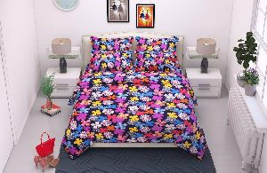 Butterfly Printed Poly Cotton Bed Sheets