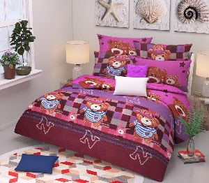 Cartoon Printed Poly Cotton Bed Sheets