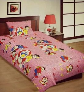 Cotton Printed Single Bed Sheets
