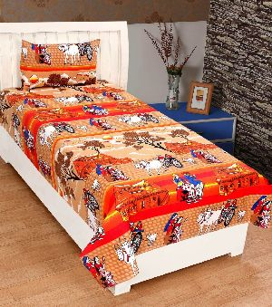 Cotton Village Printed Single Bed Sheet
