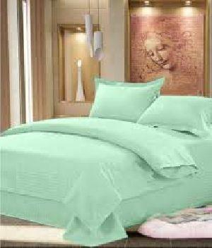 Green Color Plain Bed Sheet