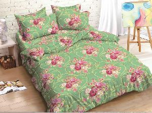Green Designer Cotton Bed Sheets