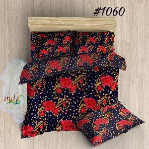 Rose Printed Poly Cotton Bed Sheets