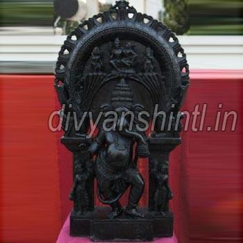 Black Marble Ganesh Ji