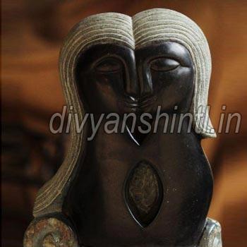 Black Stone Love Statue