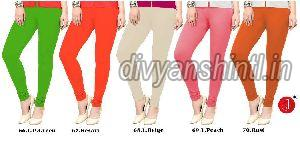 Ladies Plain Cotton Lycra Leggings 09