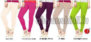 Ladies Plain Cotton Lycra Leggings 02