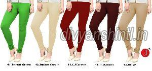 Ladies Plain Cotton Lycra Leggings 03