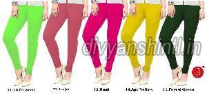 Ladies Plain Cotton Lycra Leggings 04