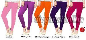 Ladies Plain Cotton Lycra Leggings 07