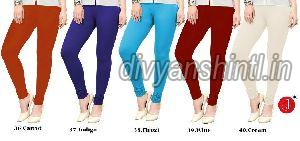 Ladies Plain Cotton Lycra Leggings 08