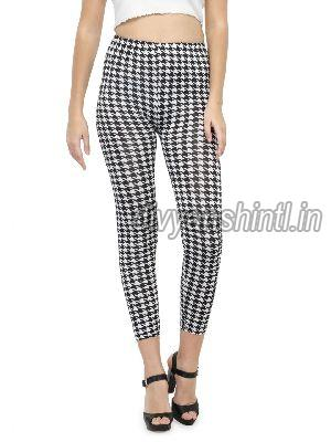 Ladies Printed Cotton Lycra Leggings 06