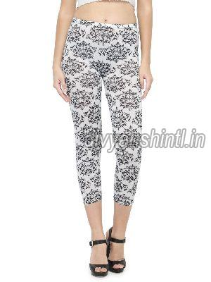 Ladies Printed Cotton Lycra Leggings 07