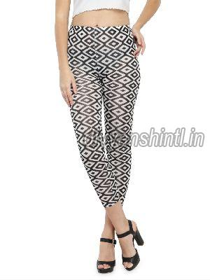 Ladies Printed Cotton Lycra Leggings 08