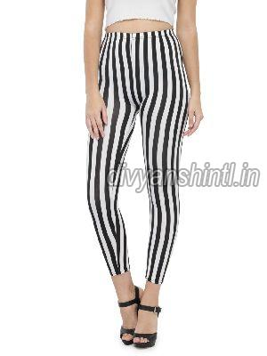 Ladies Printed Cotton Lycra Leggings 09